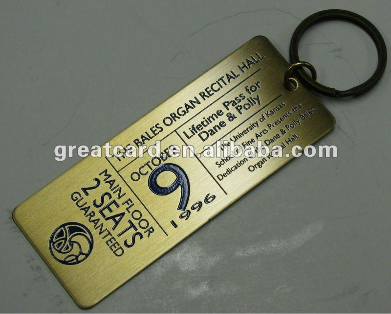 Golden Etched Brass Ticket