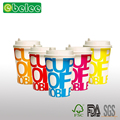 Manufacturer Supply Hot Sale 400ml Printed Single Wall Disposable Coffee Paper Cup