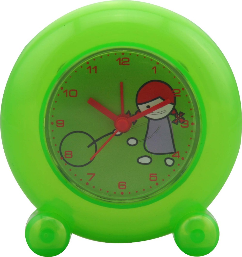 Simple style analog alarm table clock for kids