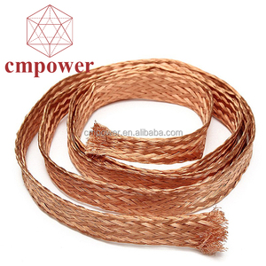CMPower cable silver plated copper braided shield