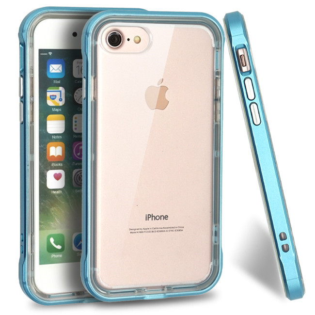 Crystal Dual Layer Silicone Soft TPU PC Bumper Frame Mobile Phone Case Back Cover For iPhone 5/6/6 Plus/7/7 Plus/X