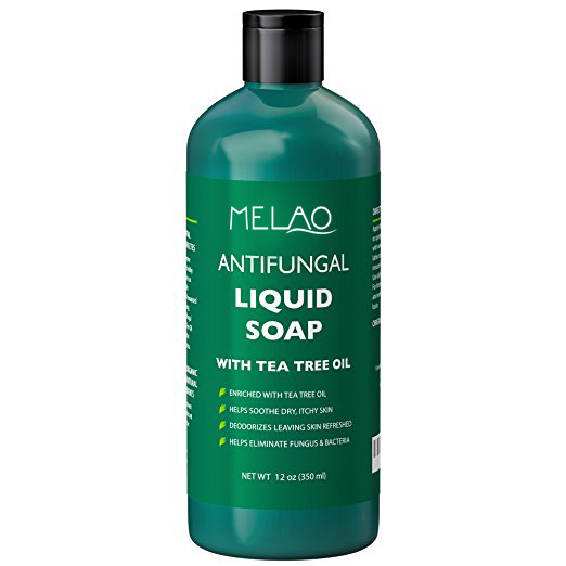Melao Premium Natural Antifungal Liquid Soap with Tea Tree Oil, 12 Oz Concentrated and Extra-strength Formula