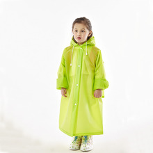 Top sale fancy design EVA waterproof school backpack heavy duty long raincoat