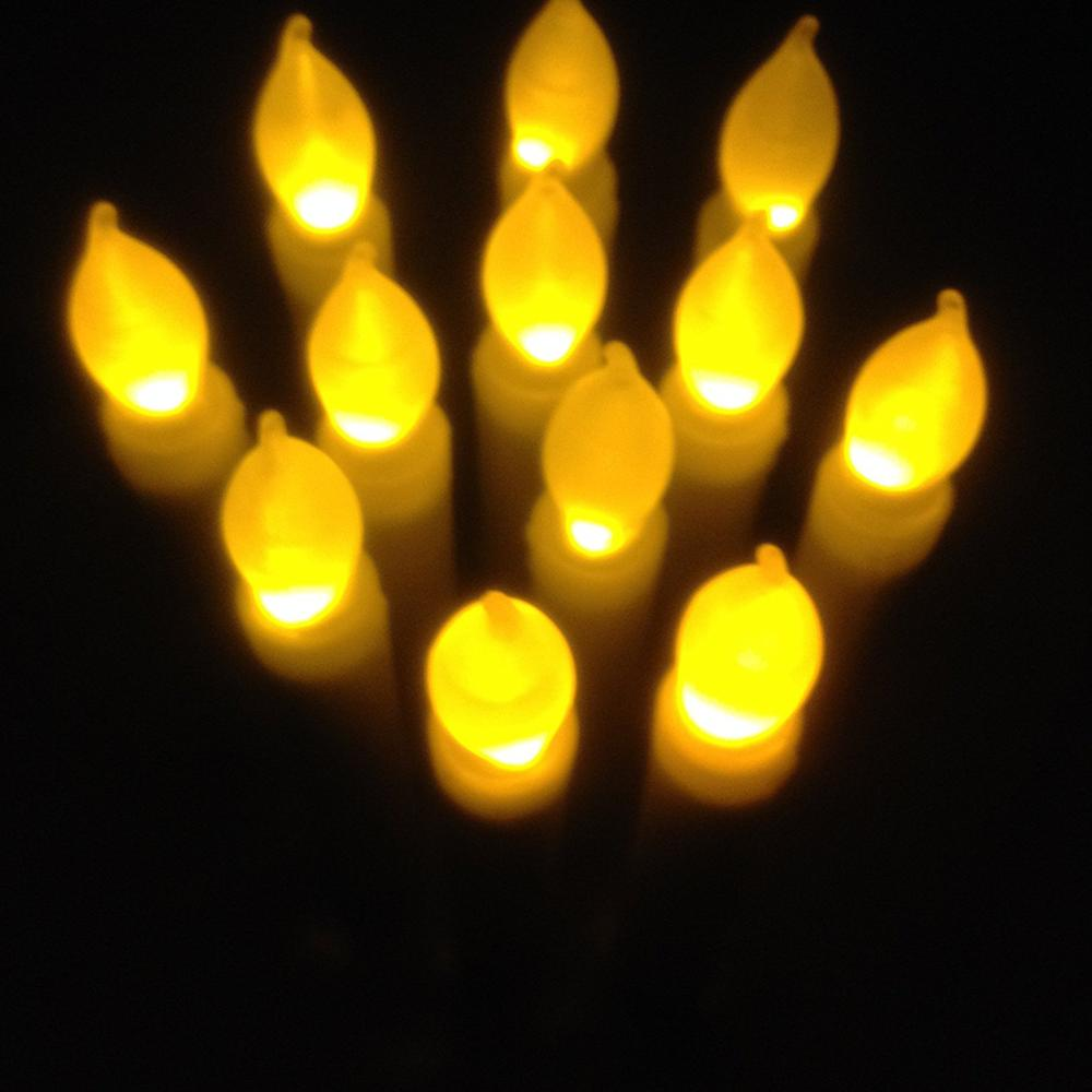 2017 hot sale Battery Operated bulk flameless Decorative Taper Candles led candles