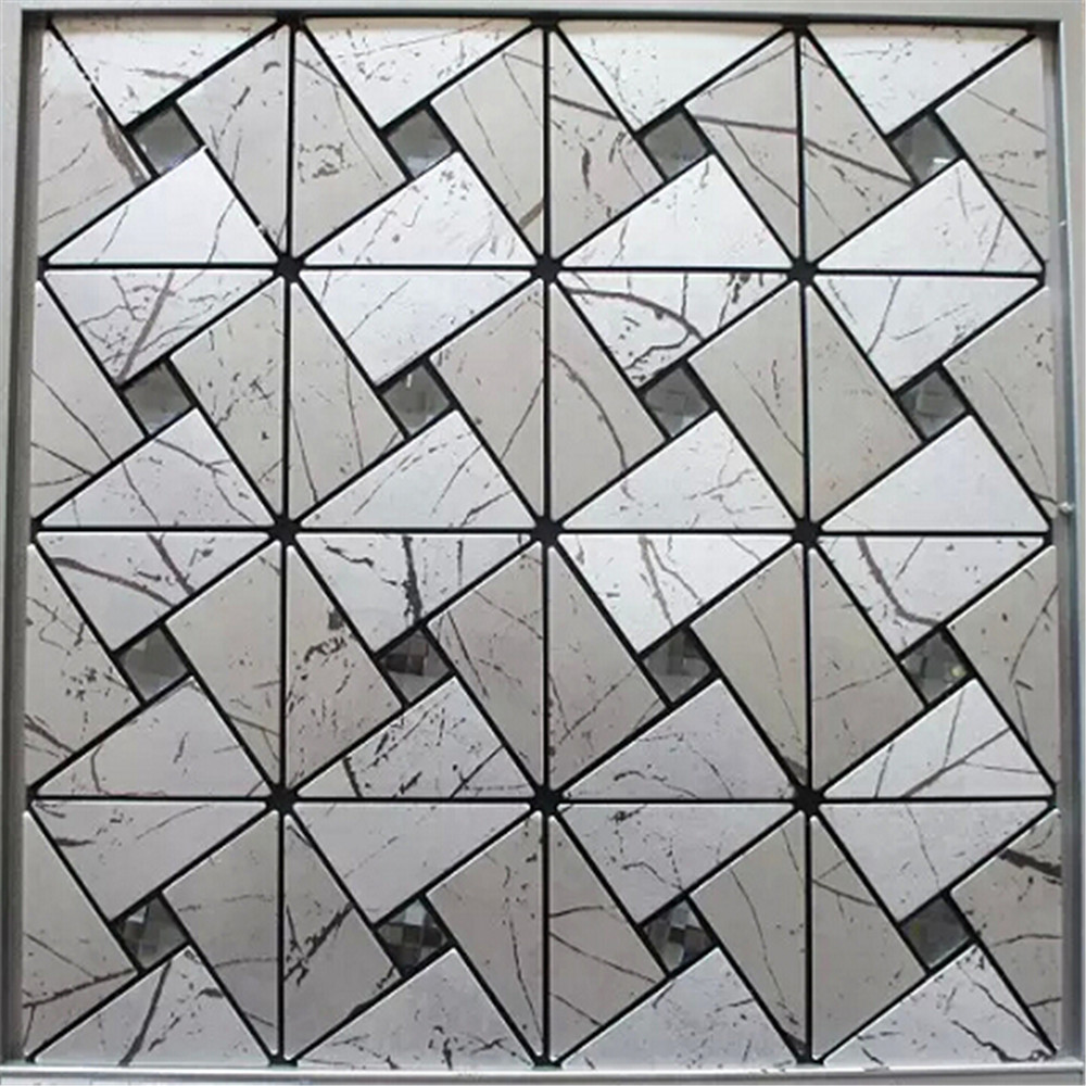 Wall art mosaic ceramic tile mosaic tile picture by aluminum