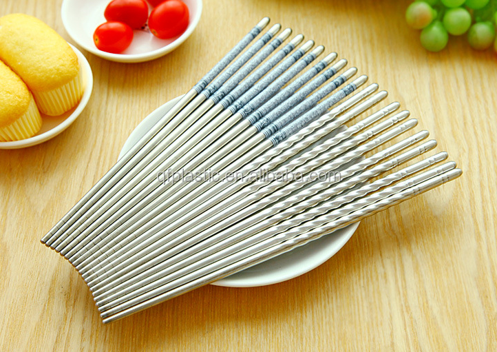 Food Grade Bulk Reusable Chinese style Stainless Steel Travel Chopsticks