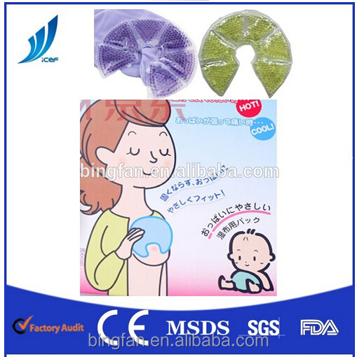 Multicolor hot hot cold pack for breast OEM