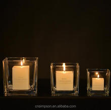 clear glass votive candle holder for wedding decor