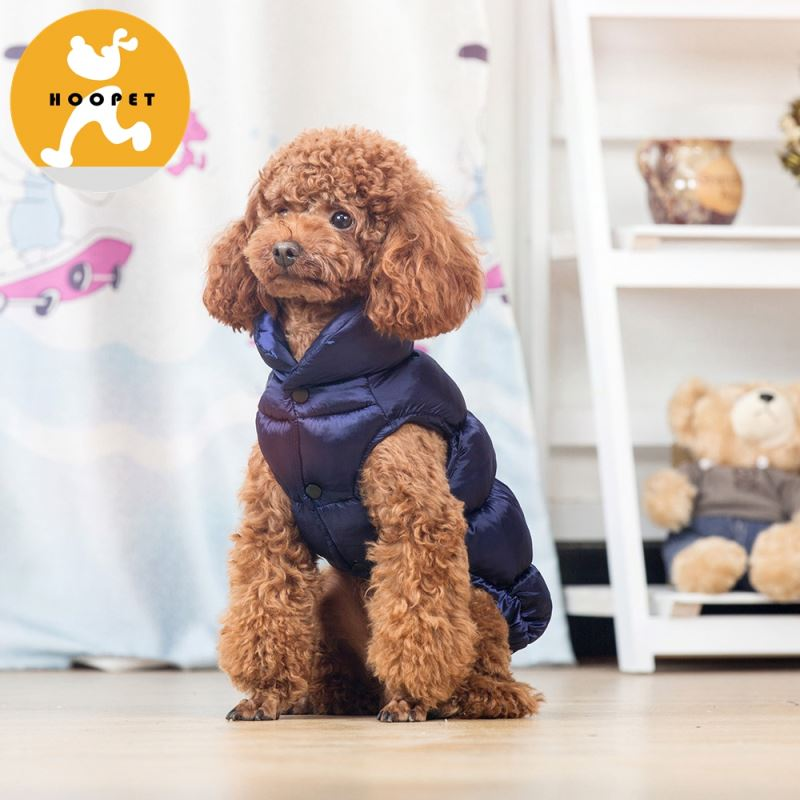 Dark violet warm jacket dog clothes for winter waterproof clothing