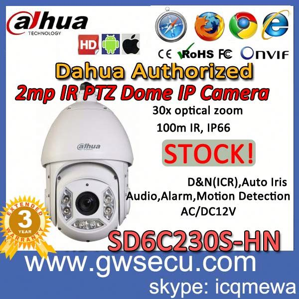 hot sale ip camera module wifi outdoor p2p day night 2Mp Full HD 30x Network IR PTZ Dome Camera SD6C230S-HN in Poland