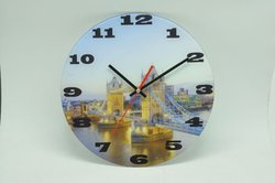 new design glass wall clock