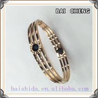 New arrival design Enamel Bracelet Triple Brand stainless steel jewelry for women