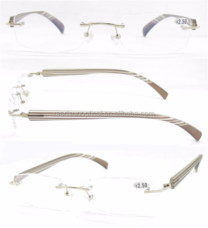 New style spectacle frame wholesale metal personality reading glasses