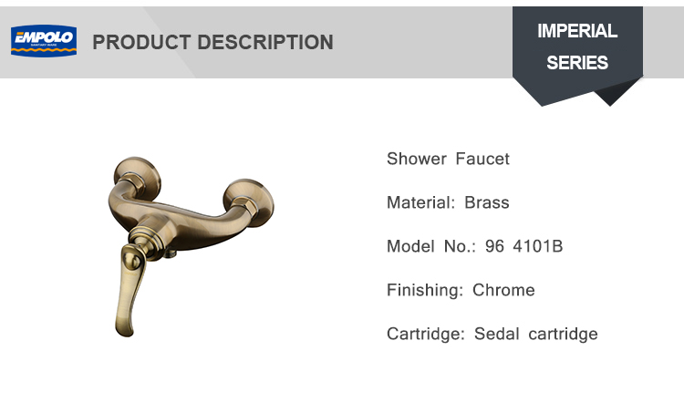 Wall Mount Bathroom Single Lever Brass Faucet Bronze Shower Mixer