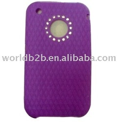 Diamond Silicon Cover for iphone 3G /3Gs (Purple)