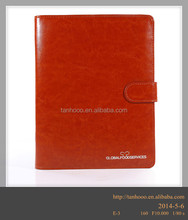 clear soft cover leather notebook with clasp