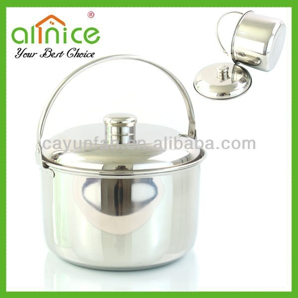 American Style stainless steel cooking pot / casserole / 5 sizes stock pot with handle