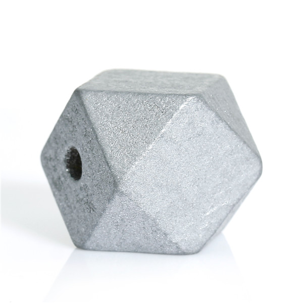 Hinoki Wood Spacer Beads Polygon Silver-gray Faceted About 20mm x 20mm