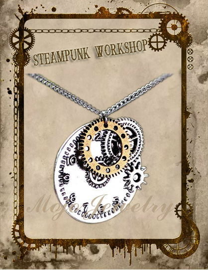 Yiwu Hot Sell Real Steampunk Watch Gears Necklace For Young Men