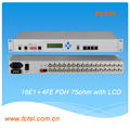 19inch 1U rackmount 16E1+4*100M ethernet PDH optical MUX