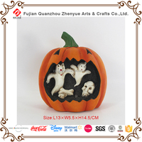 2016 New Design Polyresin Indoor Outdoor Statue Customized Resin Halloween Pumpkin Ornament Decoration