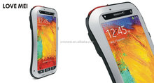 Love Mei Waterproof Case For Samsung Galaxy Note 3,For Galaxy Note 3 Waterproof/Shockproof Meatal Aluminum Case