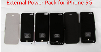 4200mAh Pack Power Bank External Battery Backup flip leather Charger cover Case for iPhone 5S 5