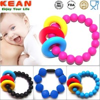 Safety Fashion Silicone Teething Bracelets for Mom