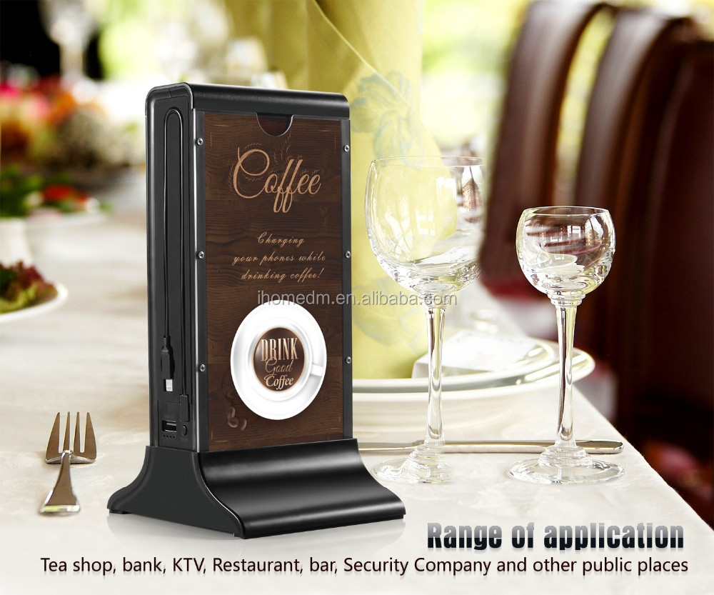2016 New Design Hot Selling Menu Restaurant Power Bank