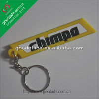 soft rubber pvc customized promotional gift key chains with keyring
