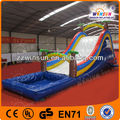 China WINSUN UL GS PVC jumbo water slide inflatable with pool