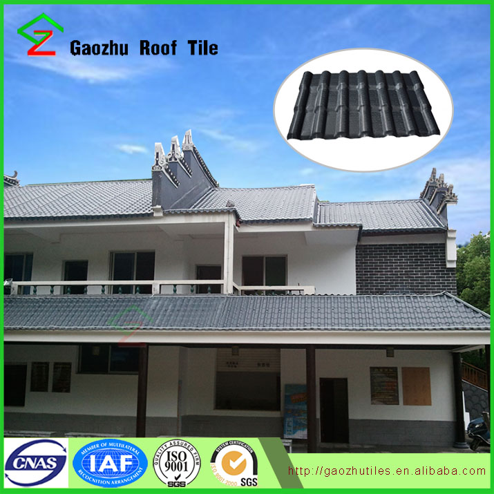 Tile prices in lebanon alibaba in spanish style 2.5MM asa synthetic resin roof tiles