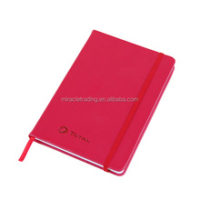 Professional stationery dairy hot sale hardcover pu notebook with elastic band