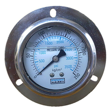 industry all stainless steel vibration proof bourdon tube pressure gauge