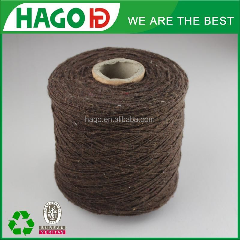 NM12 3 plies recycle cotton yarn china yarn importer knitting yarn for rugs
