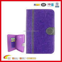 PU Leather Stand Case for ipad mini 3 credit card holderwith Hand Strip