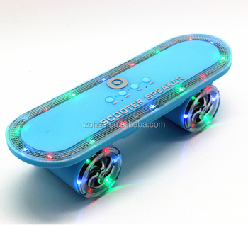 Factory wholesale cheapest price mini wireless portable LED scooter bluetooth speaker support TF FM USB