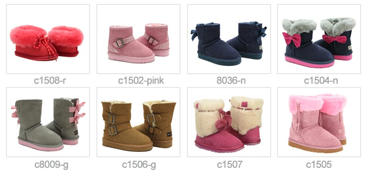 Wholesale soft sole genuine sheepskin leather prewalker infant baby shoes