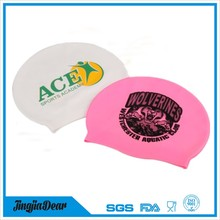 Personalized LOGO Funny Nude long hair Silicone Swimming Cap