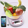 smart calorie counter app digital diet kitchen weighing scale with wireless BT 5kg