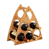 Wood Wine Gift Box Accept 6 Bottle Holder Vintage Craft With Good Quality