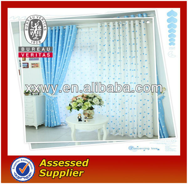2013 new environmental protection wholesale process printing continuous curtain fabric