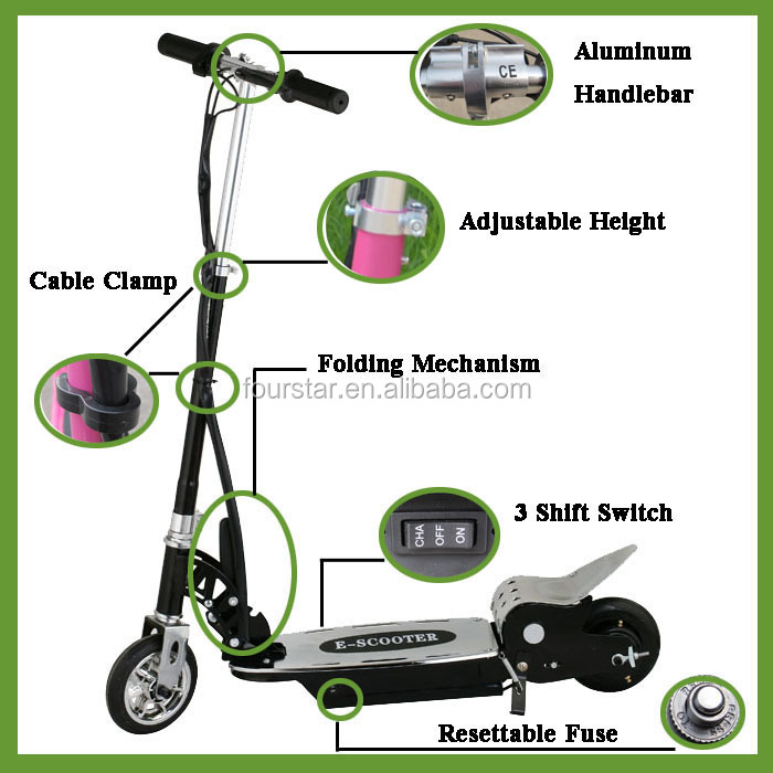 China Electric Scooter Foldable For Children 120W SX-E1013-120