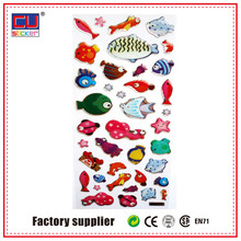 kinds of lively fish epoxy resin stickers from China cheap and funny playing