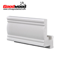 White Paint Pvc Window Shutter Profile