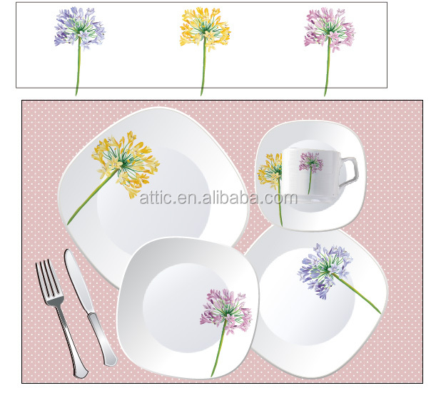 SGS Certification Lead Free Cadmium Free Porcelain Dinnerware ,Dinnerware White Square