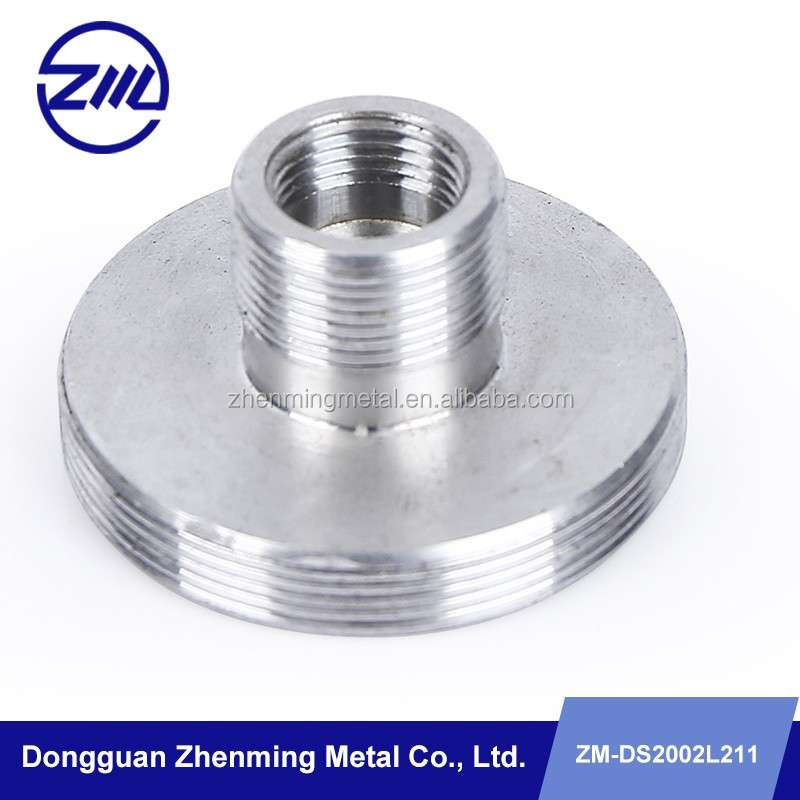 high quality aluminum threaded rivet nut cnc metal central lathe parts , cnc machinery parts