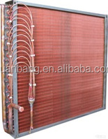Copper finned tube air cooled evaporator