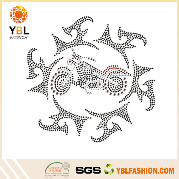 Best Supplier Accessories Garment Rhinestone Motorcycle Heat Transfer Product