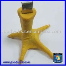 wholesale Simulation chicken feet stick usb flash drive
